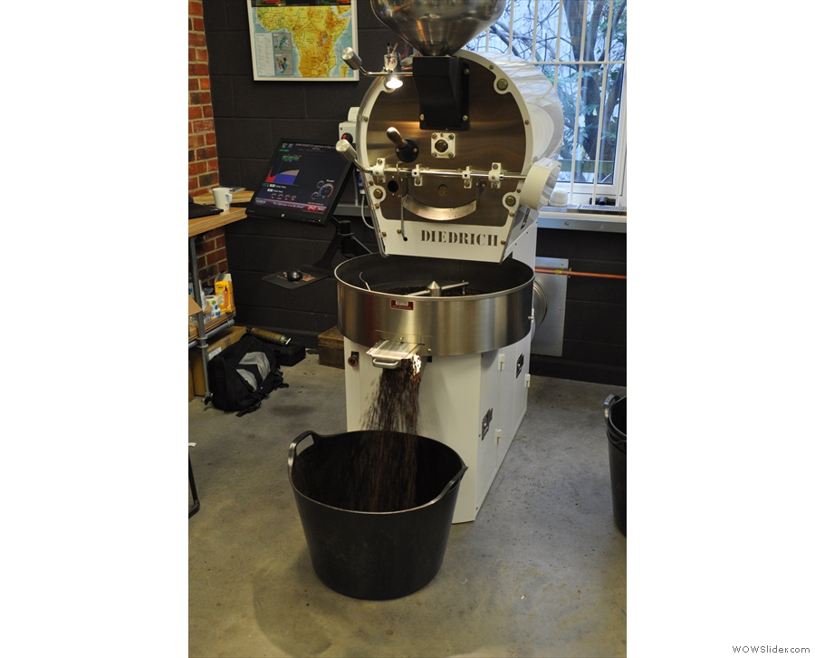 Decaf roasting away at Clifton Coffee Roasters...