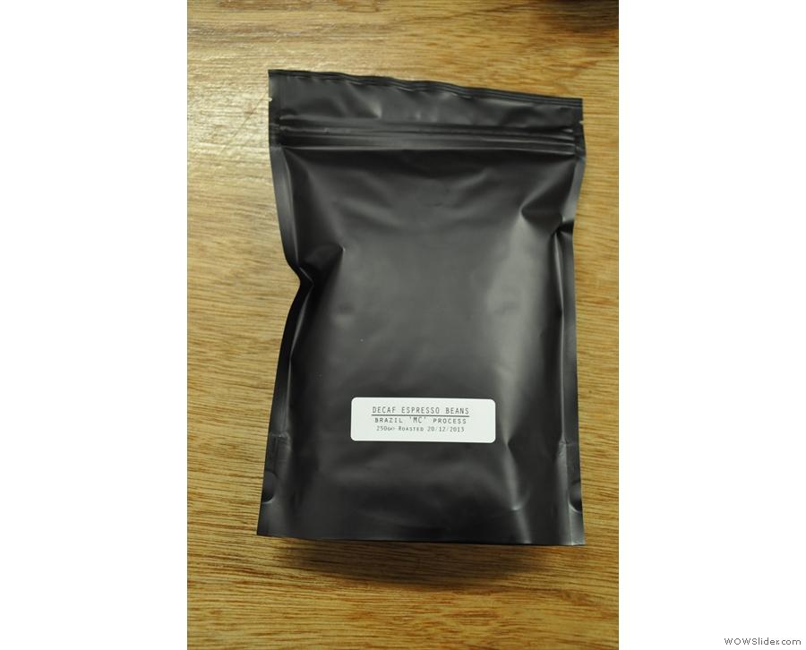 ... where I got a bag of this amazing Brazillian decaf.