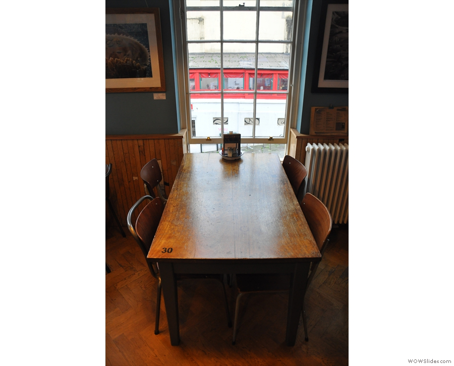 Meanwhile, the tables down the right-hand side each have their own window...