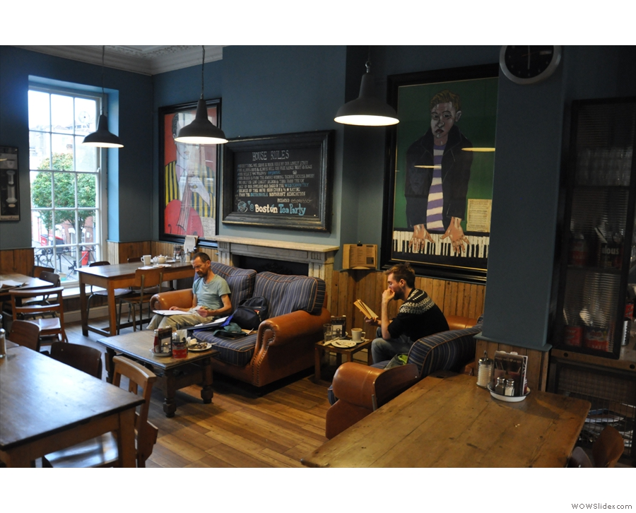 ... and seen here in 2015. The furniture's been rearranged, but not much else has changed.