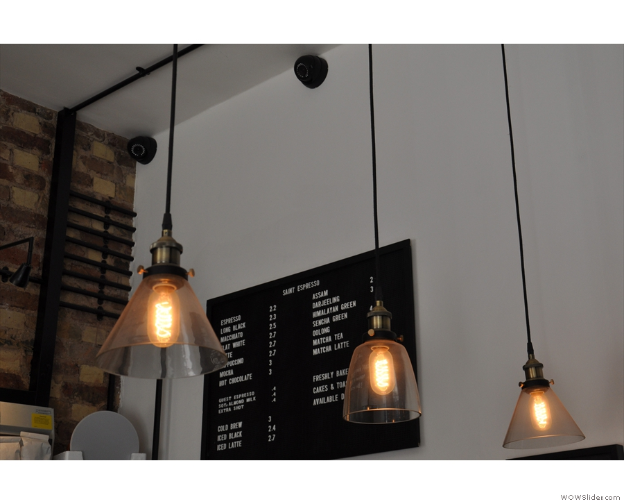 More of the lights above the counter.