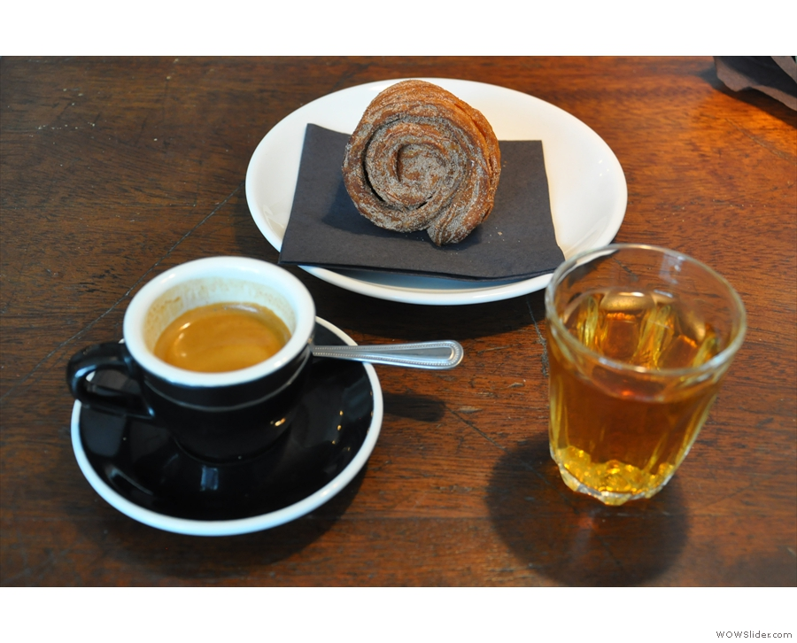... then I followed it up with an espresso and that Cinnamon Danish I'd had my eye on!