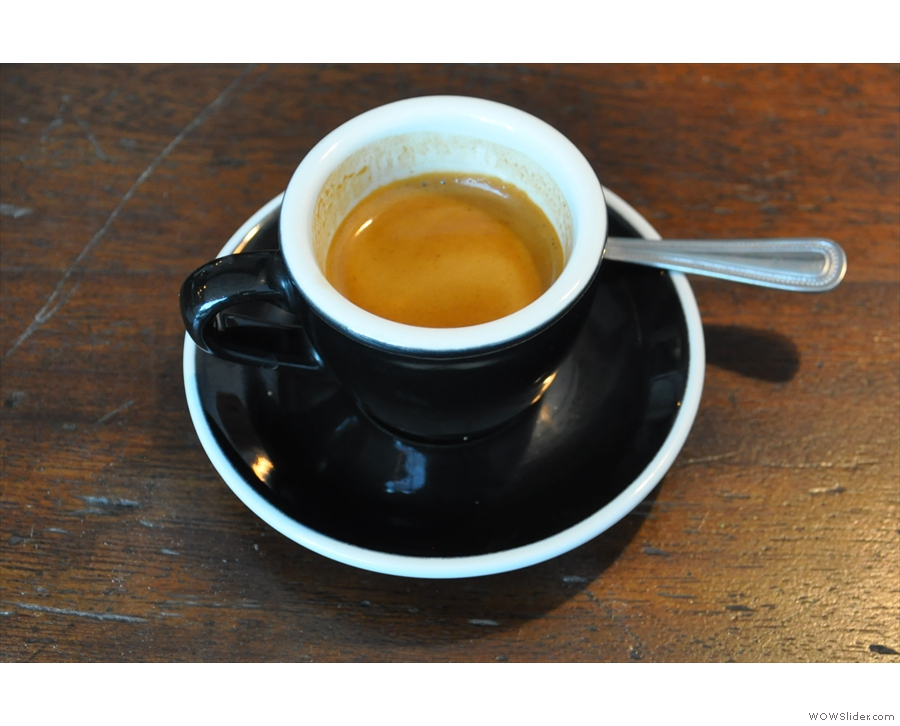 The espresso, close up and personal.
