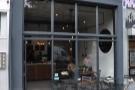 The front of Saint Espresso: look at all that glass!
