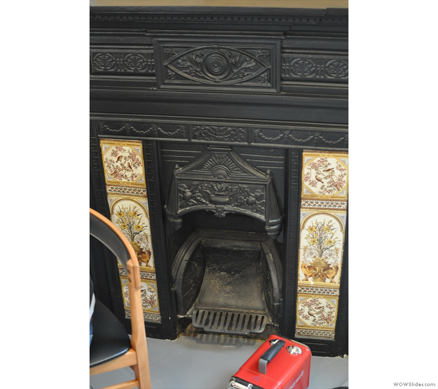 Back upstairs, this beautiful fireplace is at the back of the store...