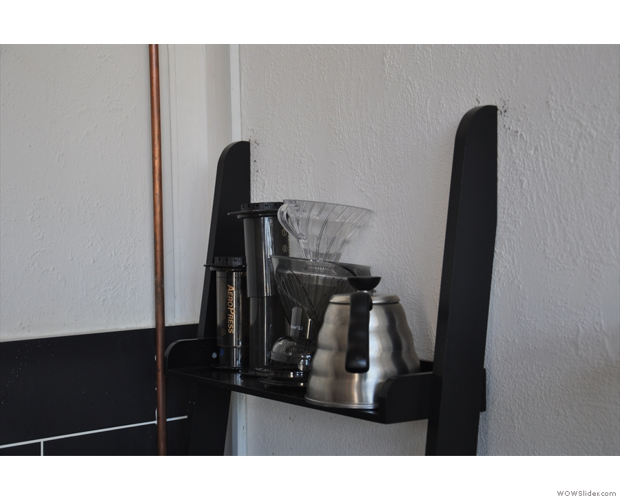 ... although these are actually Kofra's chosen tools of the trade (Aeropress + Clever).