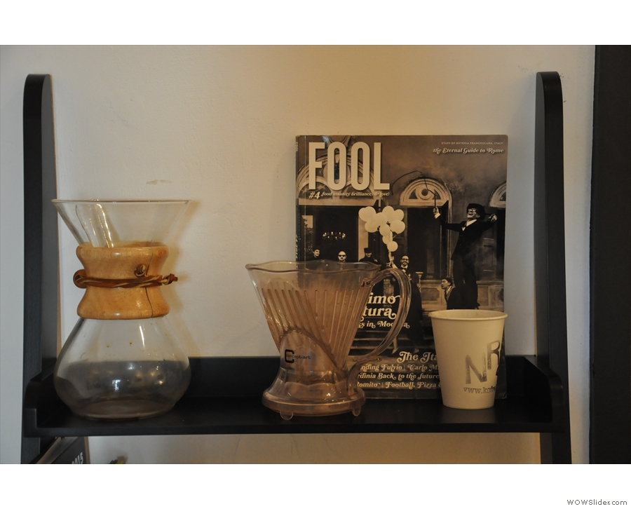 As well as bulk-brew filter, manual methods are available...