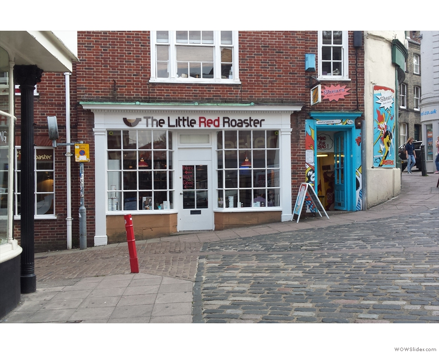 The latest Little Red Roaster, at the top of St Andrews Hill, as seen from Bedford Street.