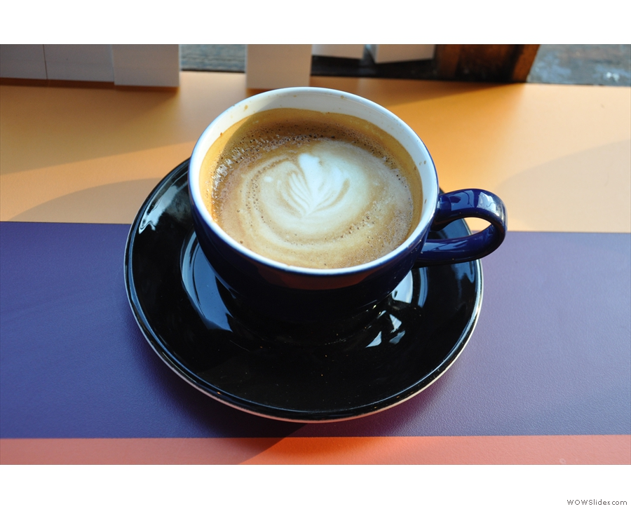 I started off with a piccolo, which was more flat white sized.