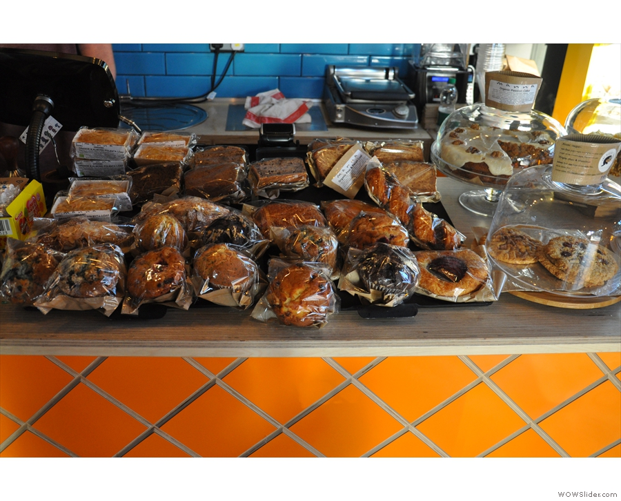Some of the tempting array of cakes.