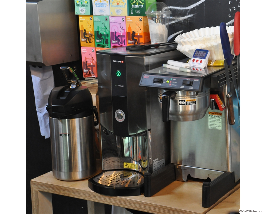 You can have it bulk-brewed if you're in a hurry, or you can have something espresso-based.