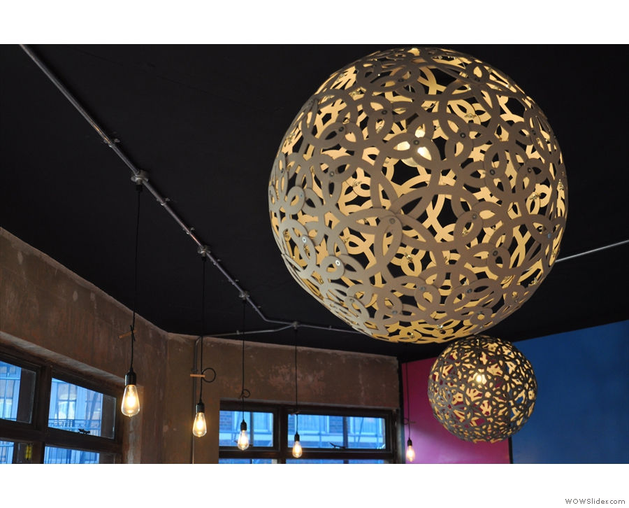 Light-fitting fans need not despair: there are these giant, globular shades, for example...