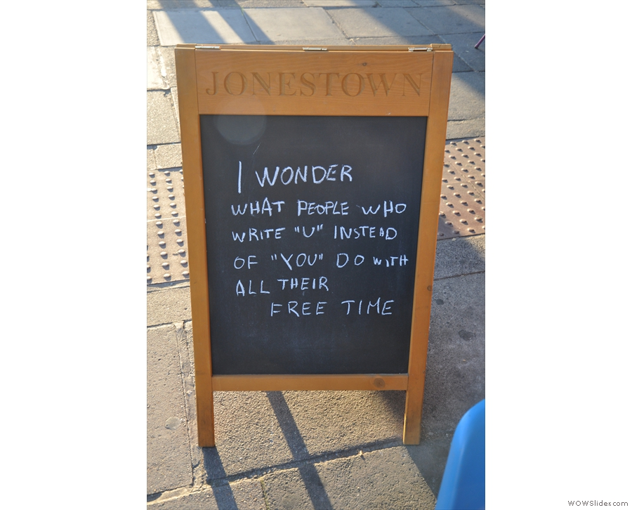 However, the other side of the A-board reveals something of Jonestown's roots...
