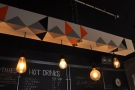 Again, simple colours and geometric shapes dominate the lighting bar.