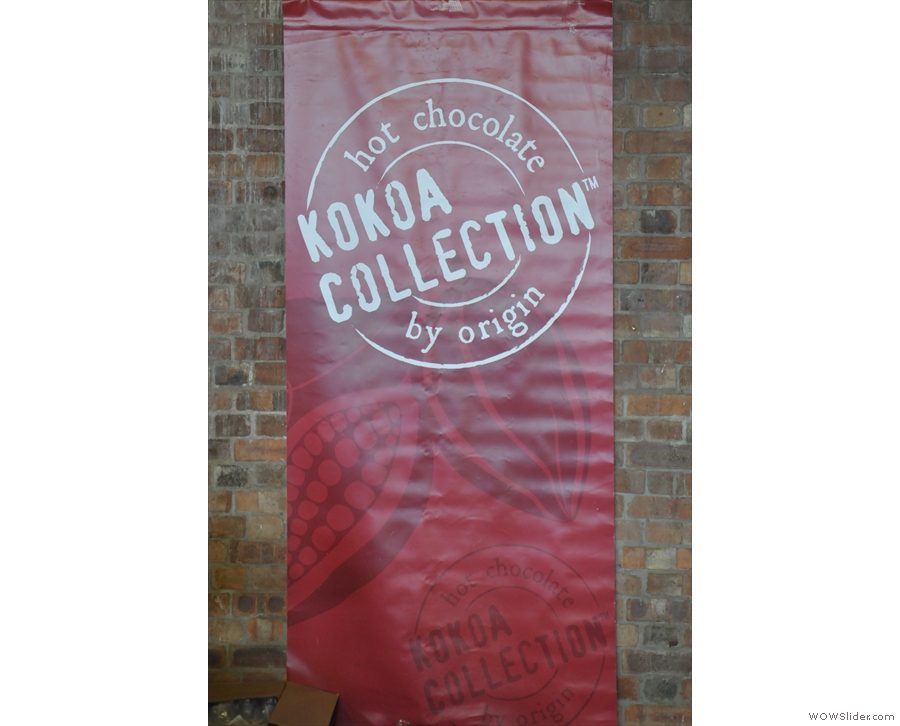 First stand on the first corridor, the lovely Kokoa Collection, purveyors of fine hot chocolate.