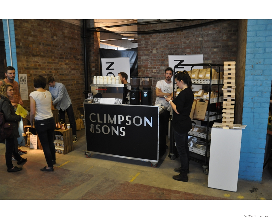 All the way from London were Climpson & Sons, roasters of some of my favourite coffee.