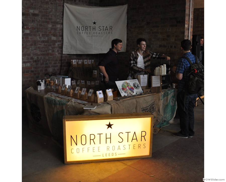 Next door to the talks were old friends, North Star Roast, all the way(!) from Leeds.