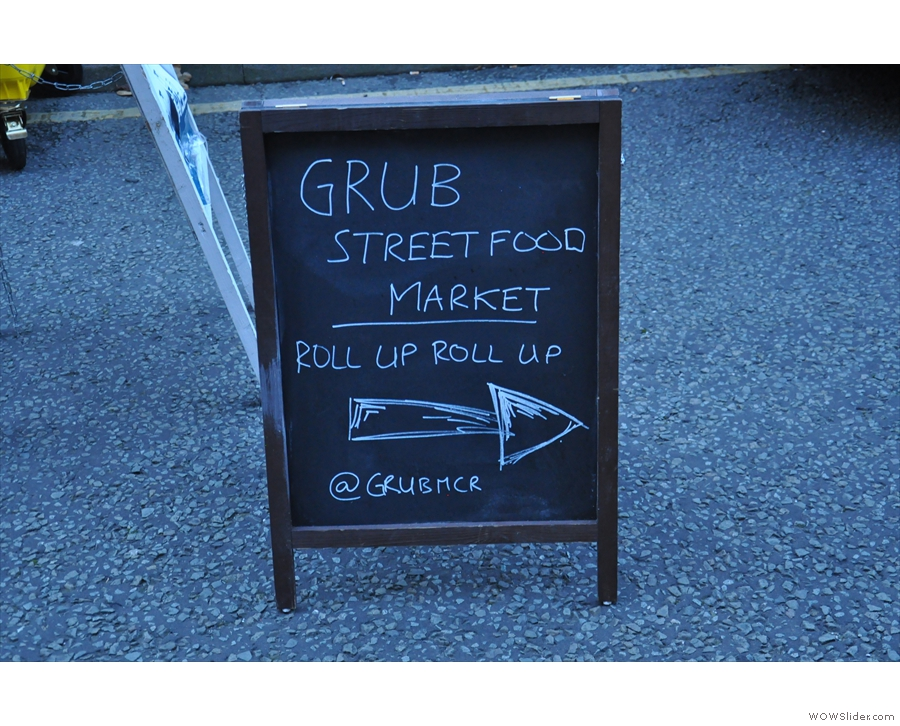 It wasn't just coffee: pop outside and there was street food, organised by Grub.