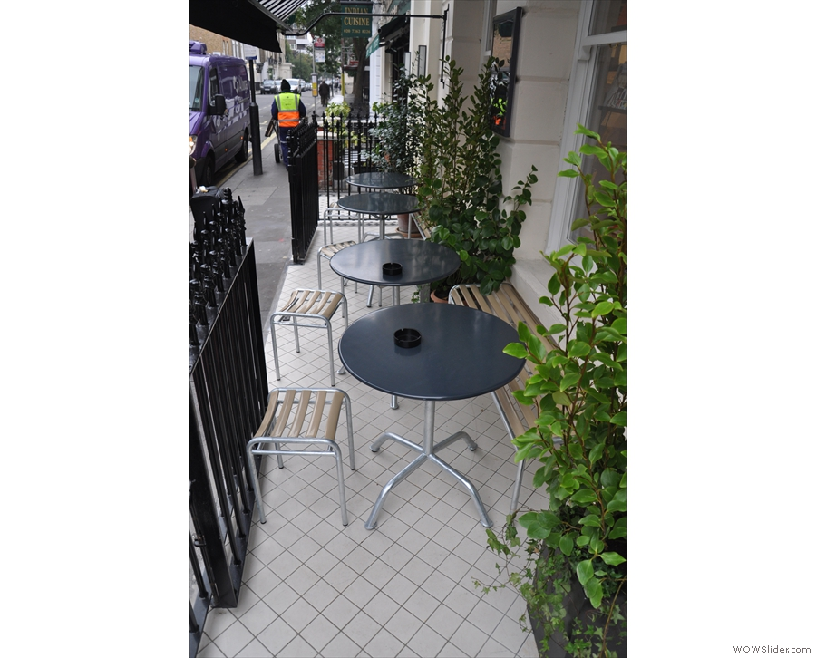 Also, before going inside, check out the outdoor seating.