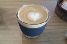 Kioskafe only has takeaway cups, so on my first visit, I brought JOCO Cup for a flat white.