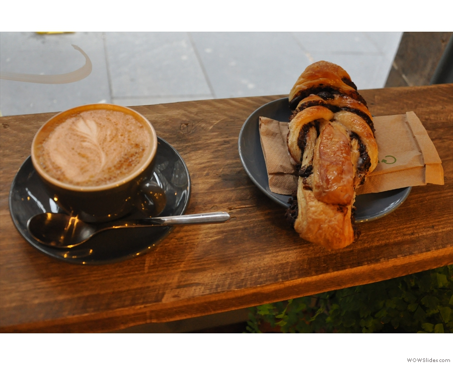 So, to business. A flat white and chocolate twist for breakfast? Yes please!