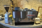 Next is the espresso machine and its grinder.