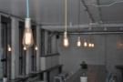 The Cover: strings of light bulbs at La Bottega Milanese, Bond Court in Leeds