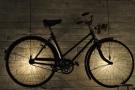 December: illuminated bicycle. Steampunk, North Berwick