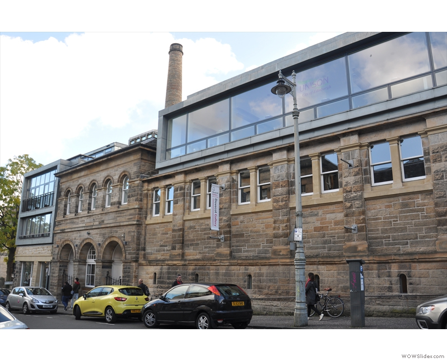 The Dovecot, contemporary art gallery and tapestry studio, on Edinburgh's Infirmary Street.
