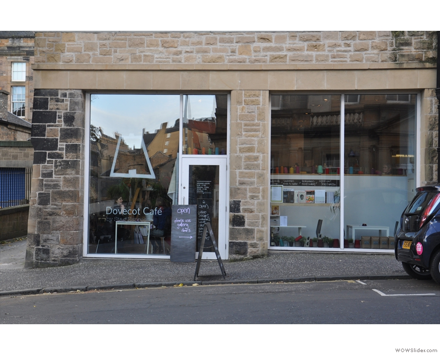 ... is Stag Espresso, the Dovecot's in-house coffee shop and cafe. Don't go in here though...