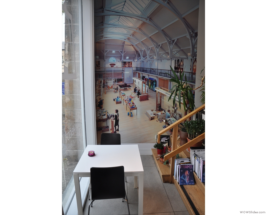 The mural on the wall is worth checking out. I believe it's the main hall of the Dovecot.