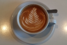 The 'instagram shot' shows off the latte-art to its best effect. I make that 14 leaves.