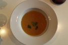 I also had a very generous bowl of ginger and sweetcorn soup for lunch.