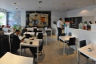 A panoramic view of Stag Espresso from just inside the doors...