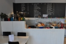 So, down to business.The counter is well-stocked with cakes...