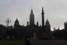 ... where I was greeted by an equally misty and moody Glasgow.