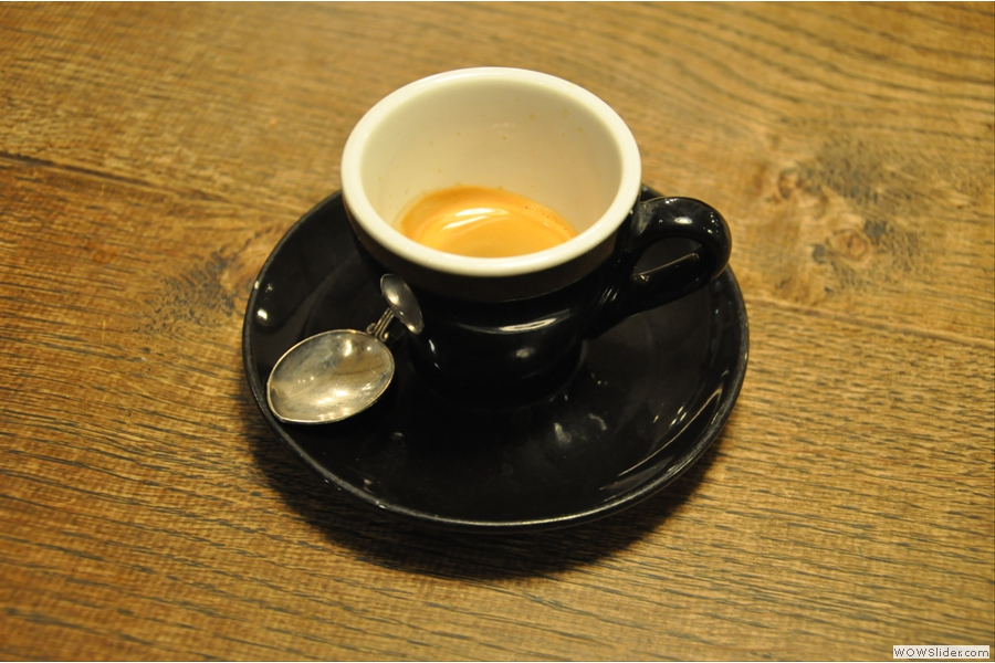 Finally, my espresso (from the first visit).