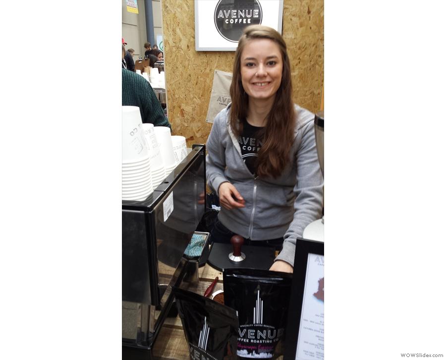 Why, it's Katelyn, Avenue Coffee's head roaster!
