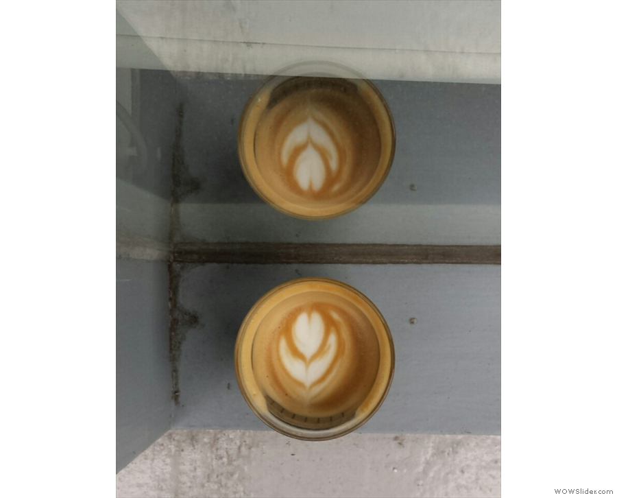 Look at the lasting power of that latte art; the sign of well-steamed milk.