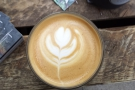 My first coffee of the day was a flat white made with a single-original Colombian.