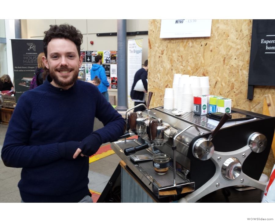 Meet Dave, from Brew Lab, who very kindly let me have a go on the Slayer.