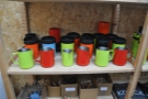 To go with the feldfarbs, there's a (prototype) range of coloured milk-jugs & knock-boxes.
