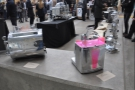 The pink one, on the right, is a Conti Espresso machine from the 1950s...