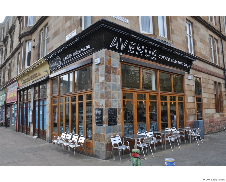... and now, as Avenue Coffee, looking remarkably similar in October 2015.