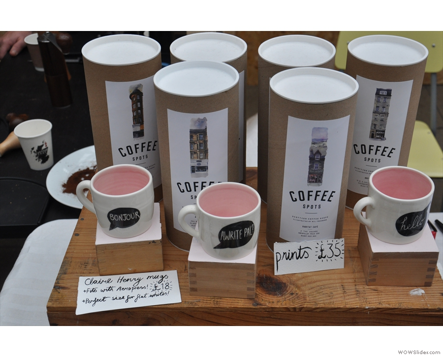 Wil was selling prints of his work, as well as these interesting mugs.