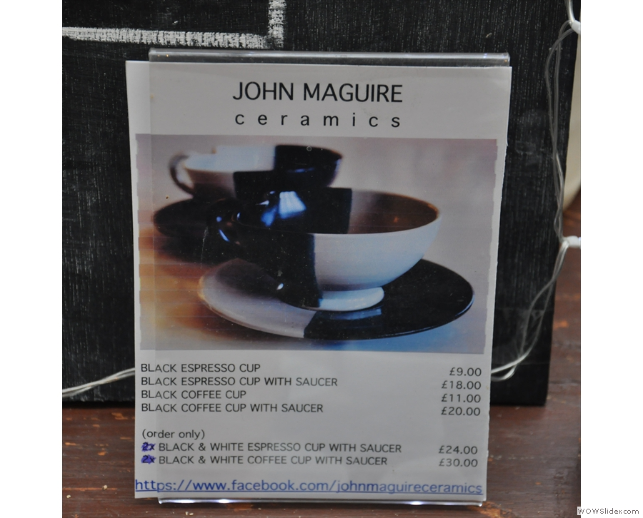 They're by the talented John Maguire. I was sorely tempted to buy one... or two!