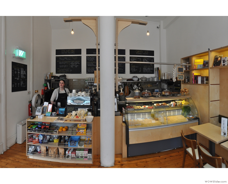 This is the view you get of the counter if you enter on the right-hand side.