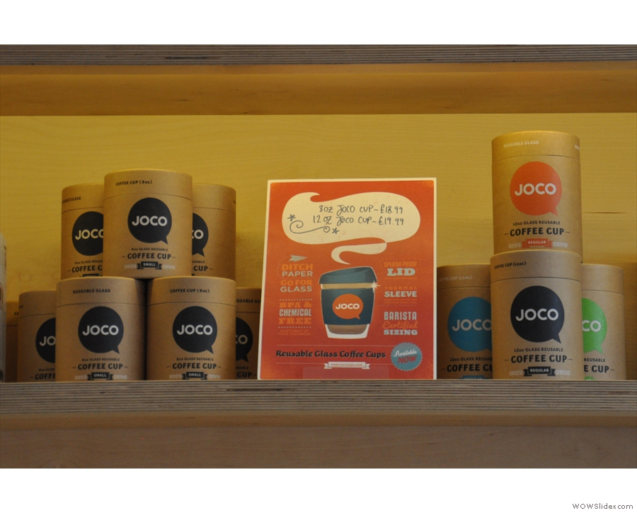 Meanwhile, continuing the recycling/reuse scheme, it's our old friend, Joco Cups!