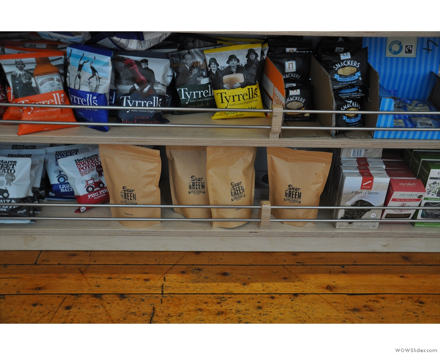 And coffee! In amongst the crisps, naturally.