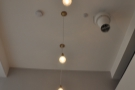 The ceilings are lovely and high. So high, in fact, that it's hard to get a good light-fitting shot.